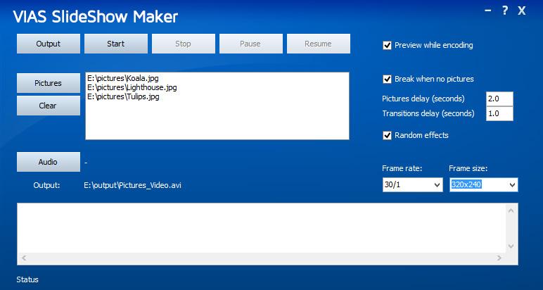 VAIS Slideshow Maker - click for full size